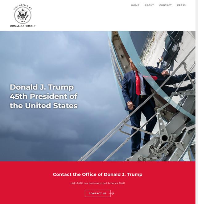 不惧封杀,自建网站——特朗普 45Office.com 网站正式上线:将建设真正伟大的美国